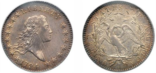 1794 Flowing Hair Half Dollar photos