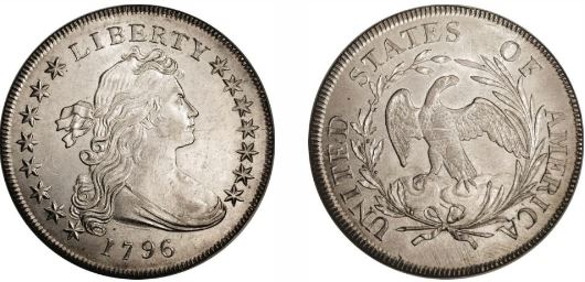 1796 Small Eagle Silver Dollar