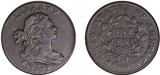 1799 Draped Bust Large Cent