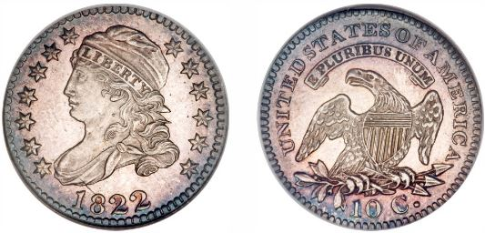1822 Capped Bust Dime image