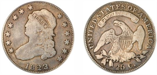 1823 Capped Bust Quarter pictures
