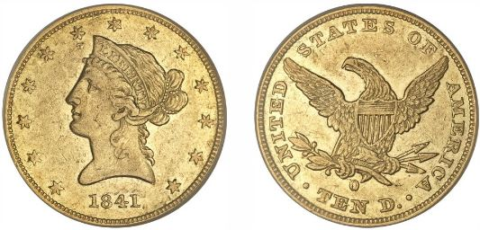 1841-O New Orleans $20 rare gold Double Eagle