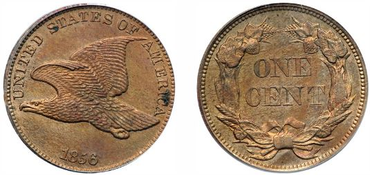 1856 flying Eagle Cent photos
