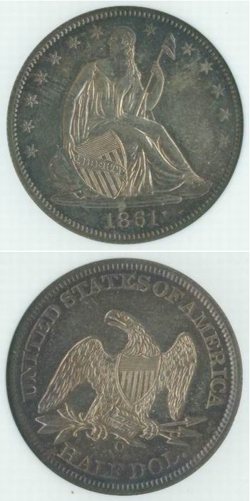 1861-O Civil War Half Dollar