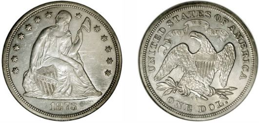1873-CC Seated Liberty Dollar
