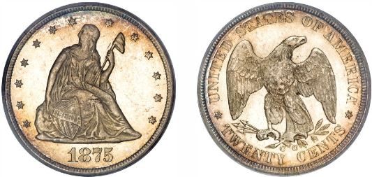 1875-CC Twenty Cent Coin photos