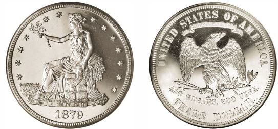 The 1879 Trade Dollar Was Issued Only In Proof Condition