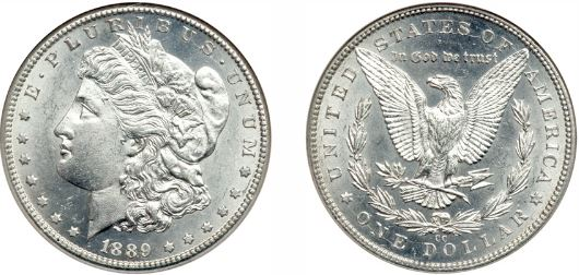 Uncirculated 1889-CC Morgan Silver Dollar