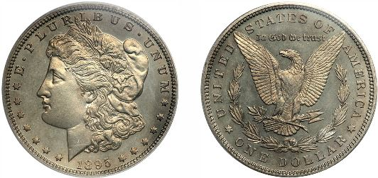 Uncirculated 1895 Morgan Silver Dollar