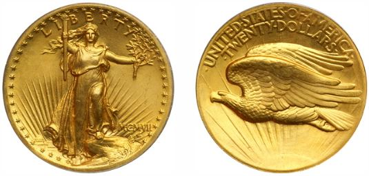 1907 St. Gaudens $20 Gold Double Eagle