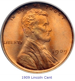 1909 Lincoln Cent obverse