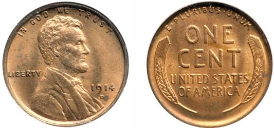 Uncirculated 1914-D Lincoln Cent
