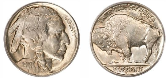 1918-D 8 over 7 Buffalo Nickel