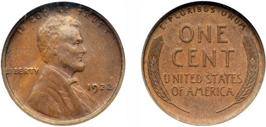 1922-D Missing D Lincoln Cent