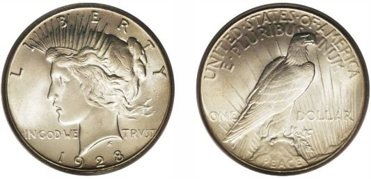 1928 Peace Dollar photos