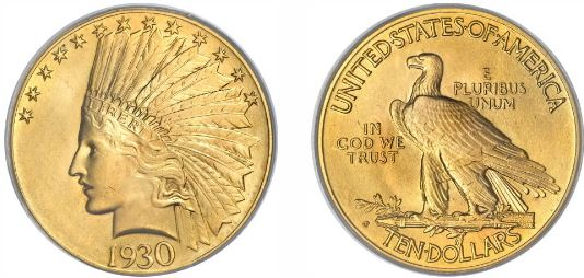 1930-S $10 Gold Indian Head Eagle