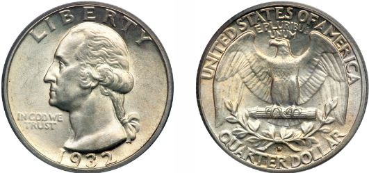 Uncirculated 1932-D Washington Quarter