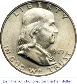 Ben Franklin Half Dollar