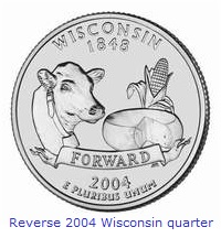 2004 Wisconsin state quarter error page