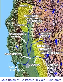 Gold Fields of California during Gold Rush