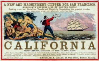 California gold rush fever