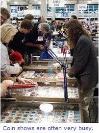 Coin Show Dealer Table