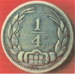 Confederate 1/4 piece of French origin