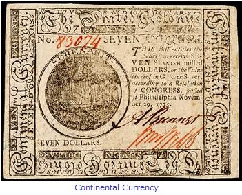 Continental Currency American Revolution
