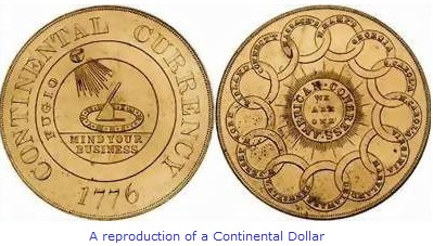 Continental Dollar American Revolution