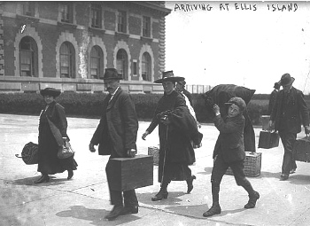 Ellis Island Immigrants arrive