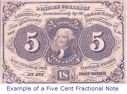 Five Cent Fractional Note