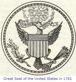 The Great Seal of the United States in 1782