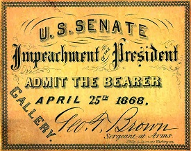 Johnson impeachment admission ticket