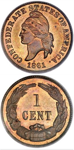 1861 Lovette Confederate Cent restrike