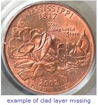state quarter error clad layer missing