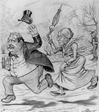 Susan B Anthony Chasing President Cleveland