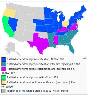 14th Amendment state passage map