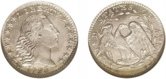 1795 Flowing Hair Half Dime photos