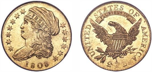 1808 $2.50 gold Quarter Eagle