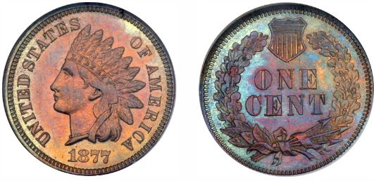 Uncirculated 1877 Indian Head Cent