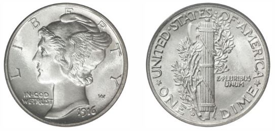 1916-D Mercury Dime photo