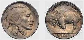 1937-D Three Legged Buffalo Nickel