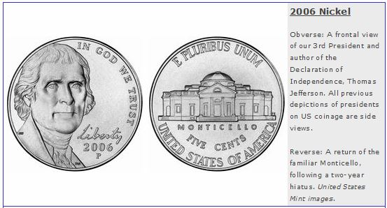 2006 Jefferson Nickel Monticello Reverse