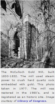 McCulloch Gold Mill of North Carolina