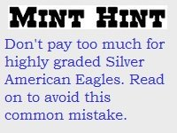 Mint Hint Silver American Eagles