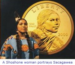 Sacagawea coin model