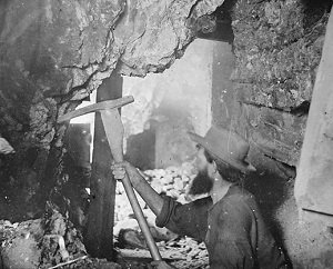 A miner in quest of silver