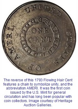Reverse of 1793 Chain AMERI. Cent. Is it a sleeper?