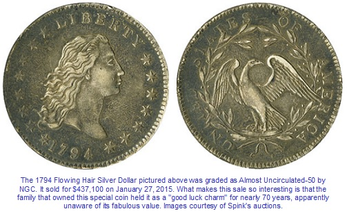 1794 Silver Dollar Selling Price