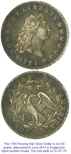 1794 Flowing Hair Silver Dollar Discovery